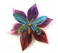 Hand Crafted Layered Butterfly Brooch By Artist Melanie  Tomlinson.